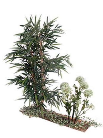 Composition florale BAMBOU - ACHILLEA - LIERRE PANACHE