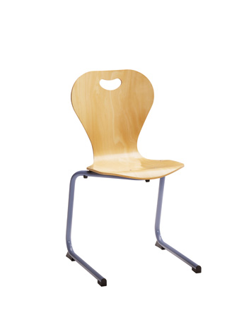 Chaise DALLAS appui sur table tube HLE