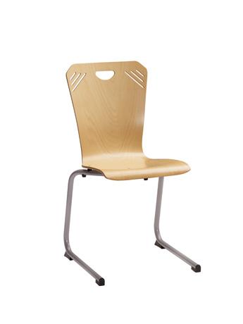 Chaise ATLANTA - appui sur table - piétement aluminium
