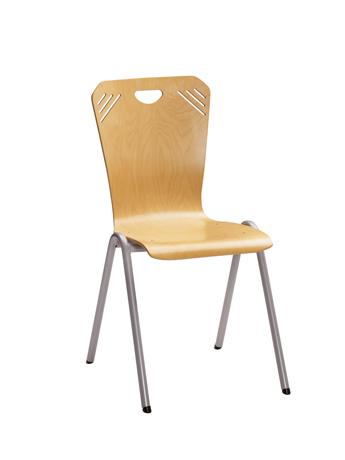 Chaise coque bois ATLANTA 4 pieds arceau (équipée d'un système d'accrochage)