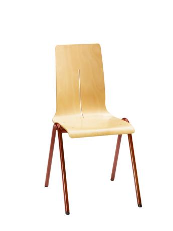 Chaise coque bois DETROIT 4 pieds arceau (équipée d'un système d'accrochage)