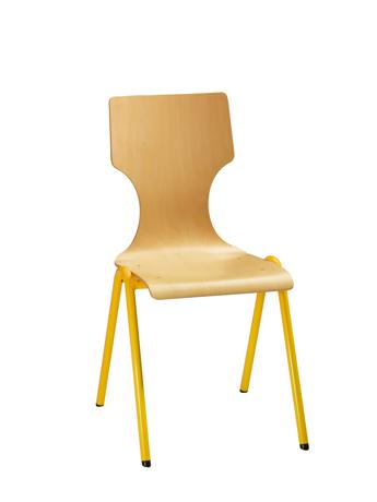 Chaise coque bois DENVER 4 pieds arceau (équipée d'un système d'accrochage)