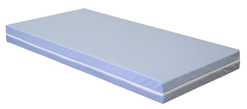 Matelas SATIN 600 x 1200 mm - épaisseur 100 mm - housse en tissu enduit PVC - classement M1