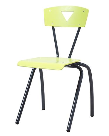 Chaise appui sur table 4 pieds XICO acier (assise & dossier séparés)