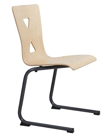 DPC - RESTAURATION Chaise appui sur table pied luge XICO acier (coque bois) Photo