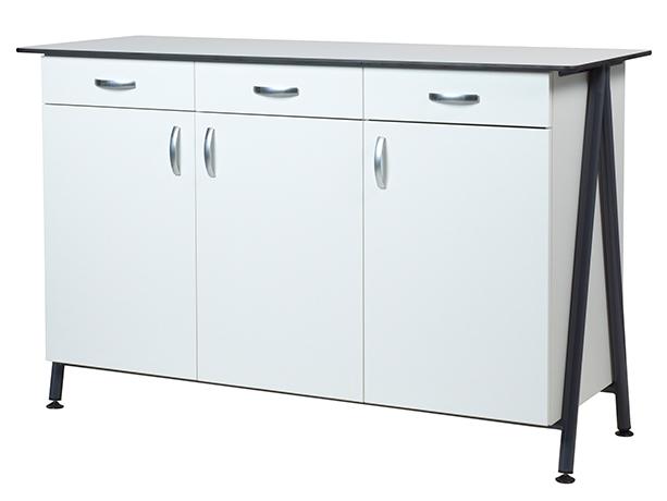 Buffet XICO 3 portes 3 tiroirs, LHP : 150 x 102 x 55 cm -