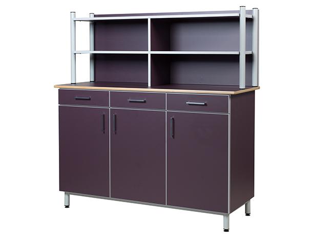 Buffet ZANA 3 portes 3 tiroirs, LHP : 150 x 102 x 55 cm