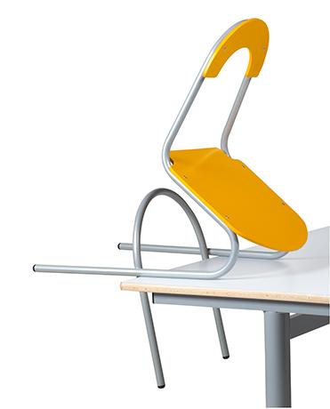 DPC - RESTAURATION Chaise appui sur table 4 pieds ZANA Acier (assise & dossier séparés) PHoto