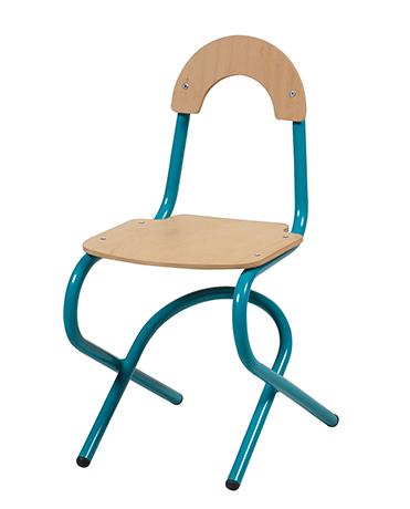 Chaise appui sur table 4 pieds ZANA Acier (assise & dossier séparés)
