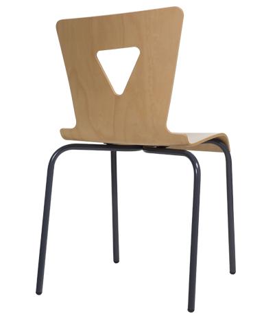 DPC - Chaise OXIAL piétement 4 pieds en acier