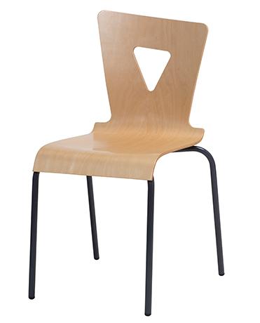 DPC - RESTAURATION Chaise OXIAL piétement 4 pieds en aluminium