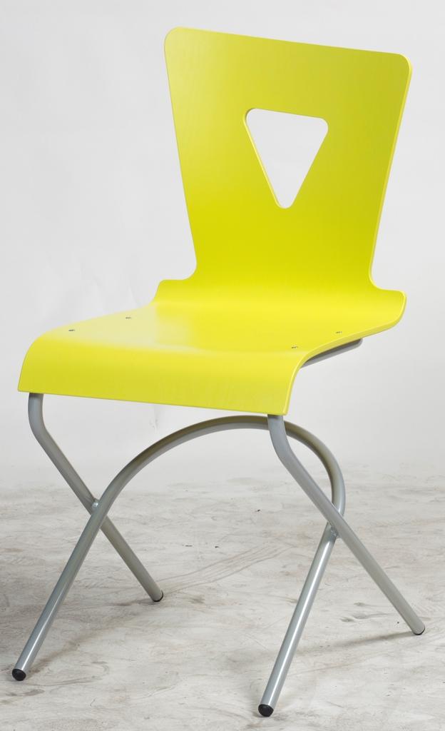 DPC - Chaise OXIAL 4 pieds appui sur table basculant en acier