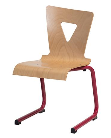Chaise OXIAL appui sur table piétement luge en acier