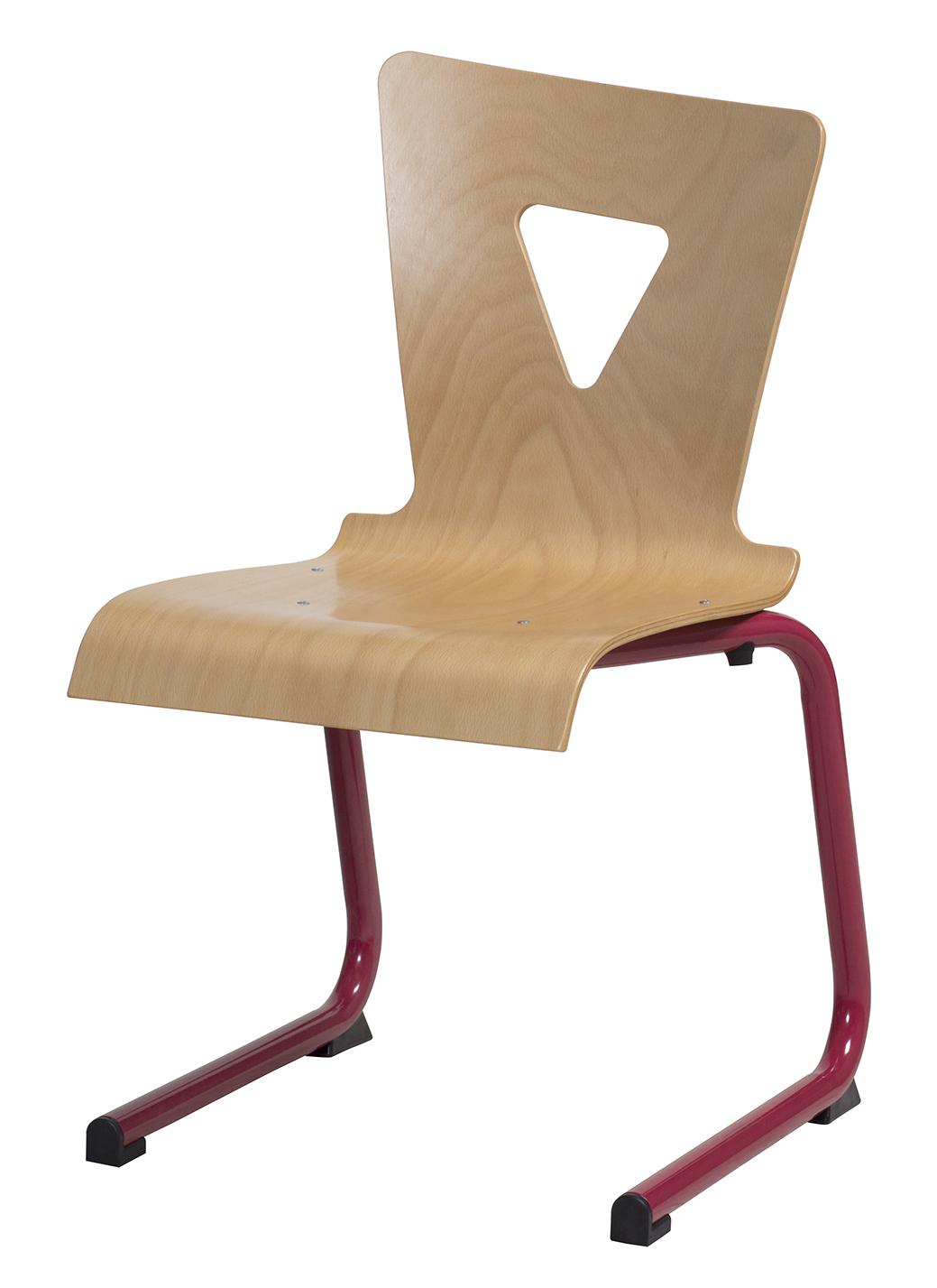 Chaise OXIAL appui sur table basculant piétement en aluminium