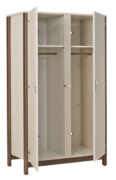 Armoire 2 portes NYXOS (tout penderie) - structure en hêtre massif