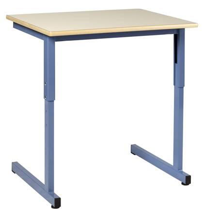 DPC - Table individuelle réglable LODI 70x50  avec crochet et casier.