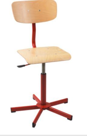 Chaise informatique réglable en hauteur par vérins à gaz de 420mm à 600 mm sur patins
