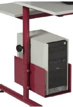 DPC - Support d' Unité Centrale jusqu'à 18 cm de large en tôle pour tables informatiques