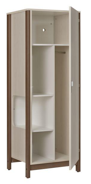 dpc hebergement armoire 1 porte nyxos avec niche mi penderie et mi ling re structure en. Black Bedroom Furniture Sets. Home Design Ideas