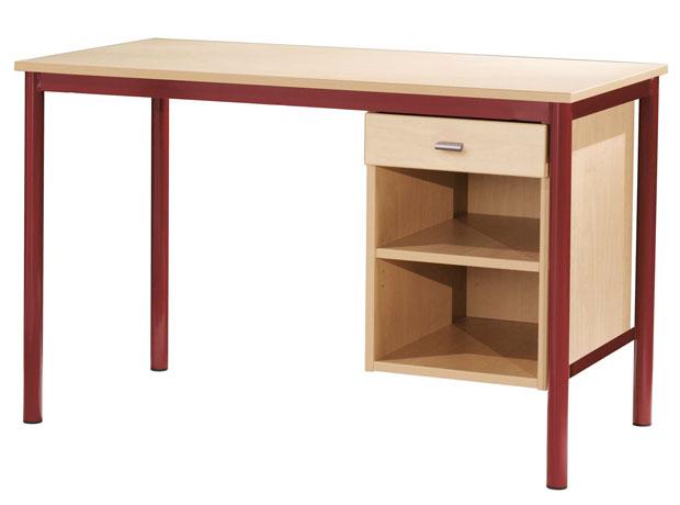 Bureau avec tiroir et porte images for Bureau avec niche