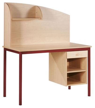 Bureau PYLOS 1200 x 600 mm - avec niche, tiroir et séparateur