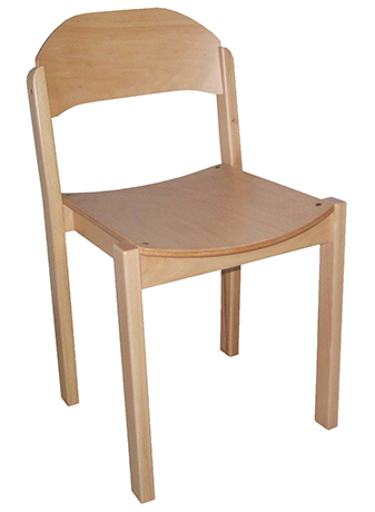 DPC - RESTAURATION Chaise CYRENE  4 pieds assise et dossier pleins - Taille 6