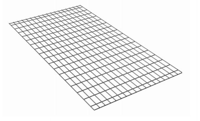 Sommier - treillis métallique soudé sur la structure d'un lit