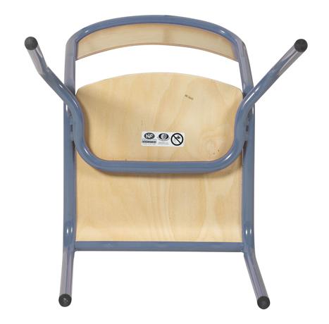 DPC - SCOLAIRE & SALLE DE COURS Chaise 4 pieds VLORE - assise et dossier encastrés en hêtre multiplis vernis Photo 2