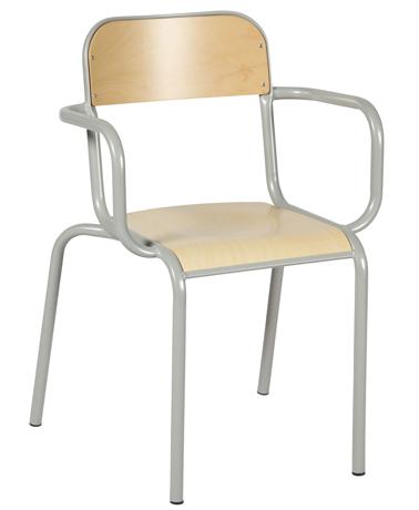 Fauteuil de professeur sans accoudoirs bois (modèle 2007)