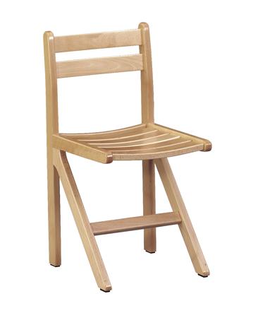 Chaise CYRENE  - appui sur table - assise et dossier en lattes - Taille 6