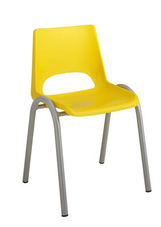 Chaise maternelle coque plastique 4 pieds