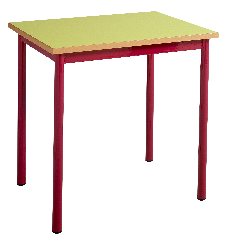 Table maternelle fixe 4 pieds tube diamètre 40mm