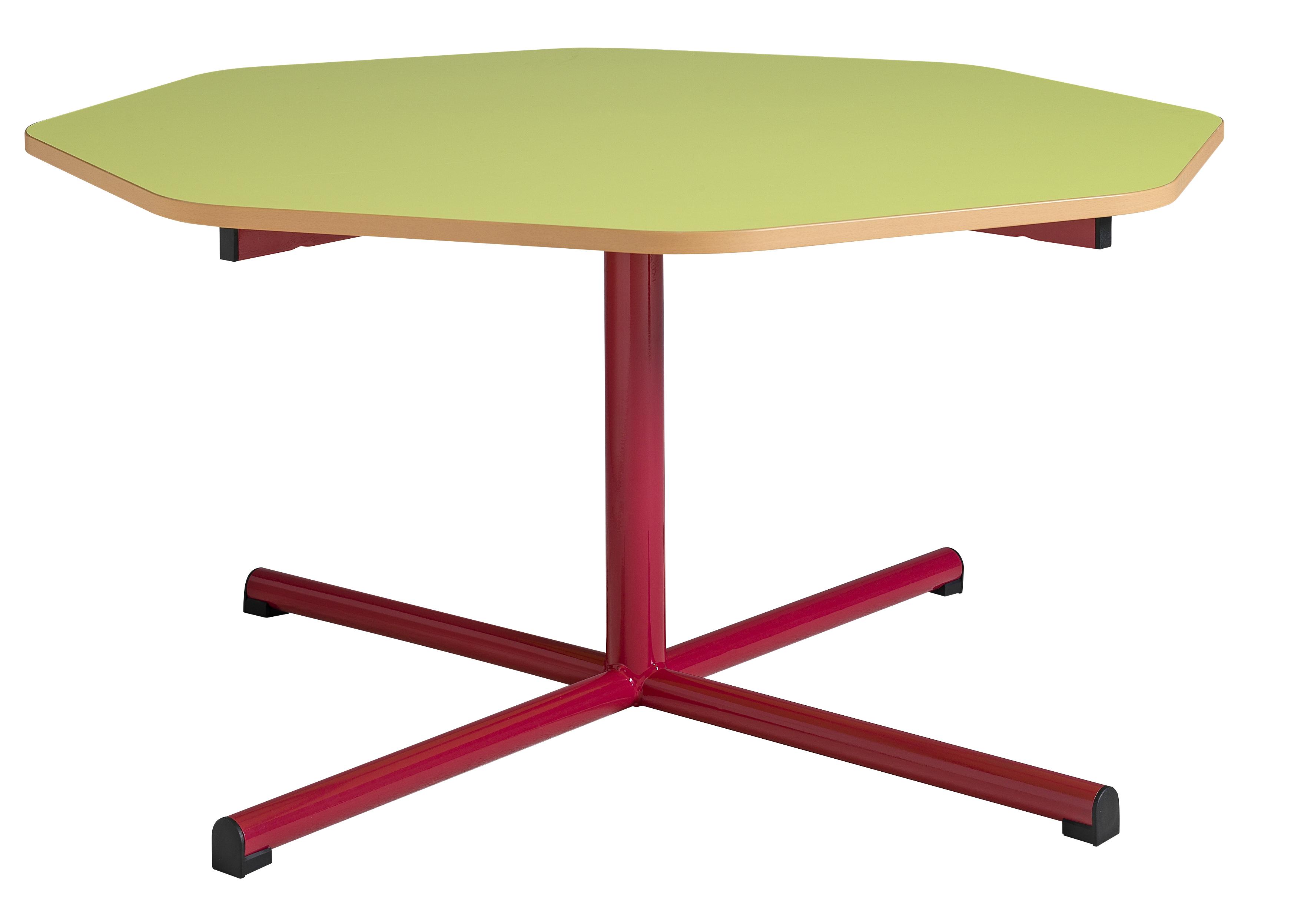 DPC - MATERNELLE Table maternelle fixe 4 pieds tube diamètre 40mm PHOTO 4