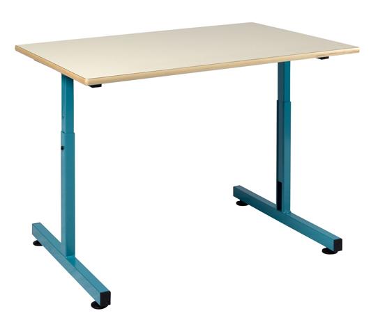 Table scolaire pour personne à mobilité réduite 900 x 650 mm plateau fixe