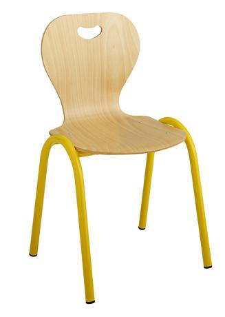 Chaise maternelle coque bois 4 pieds
