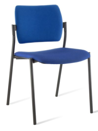 Chaise AMETS assise et dossier tissus