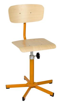 Chaise informatique réglable en hauteur par vis de 420mm à 600 mm sur patins