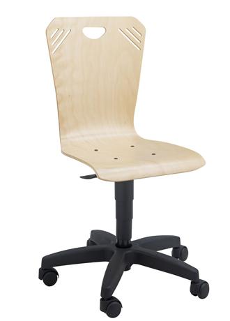 dpc informatique bureaux chaise informatique sur roulettes coque bois gamme dallas. Black Bedroom Furniture Sets. Home Design Ideas
