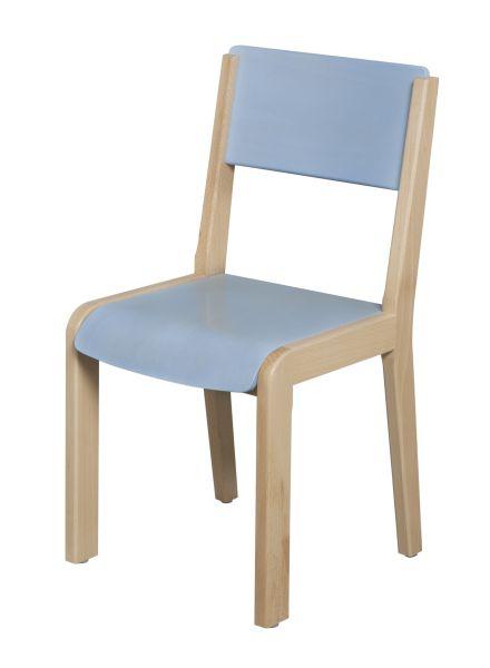 DPC - MATERNELLE Chaise bois 4 pieds - assise et dossier teintés PHOTO 2