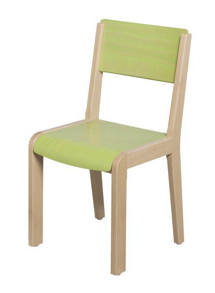 DPC - MATERNELLE Chaise bois 4 pieds - assise et dossier teintés PHOTO 5