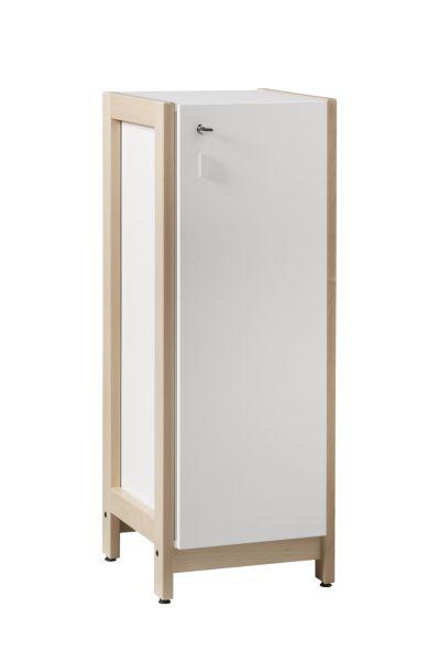 DPC - Meuble colonne MANDI, avec 3 portes sur piétement bois