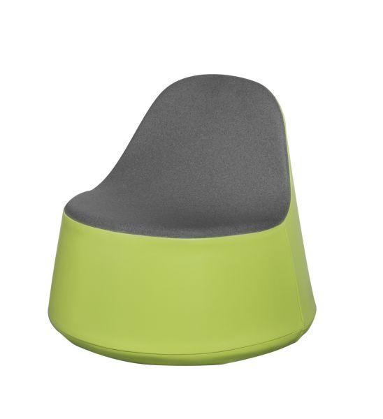 Siège KONE, hauteur d'assise 30cm. Assise couleur grise.