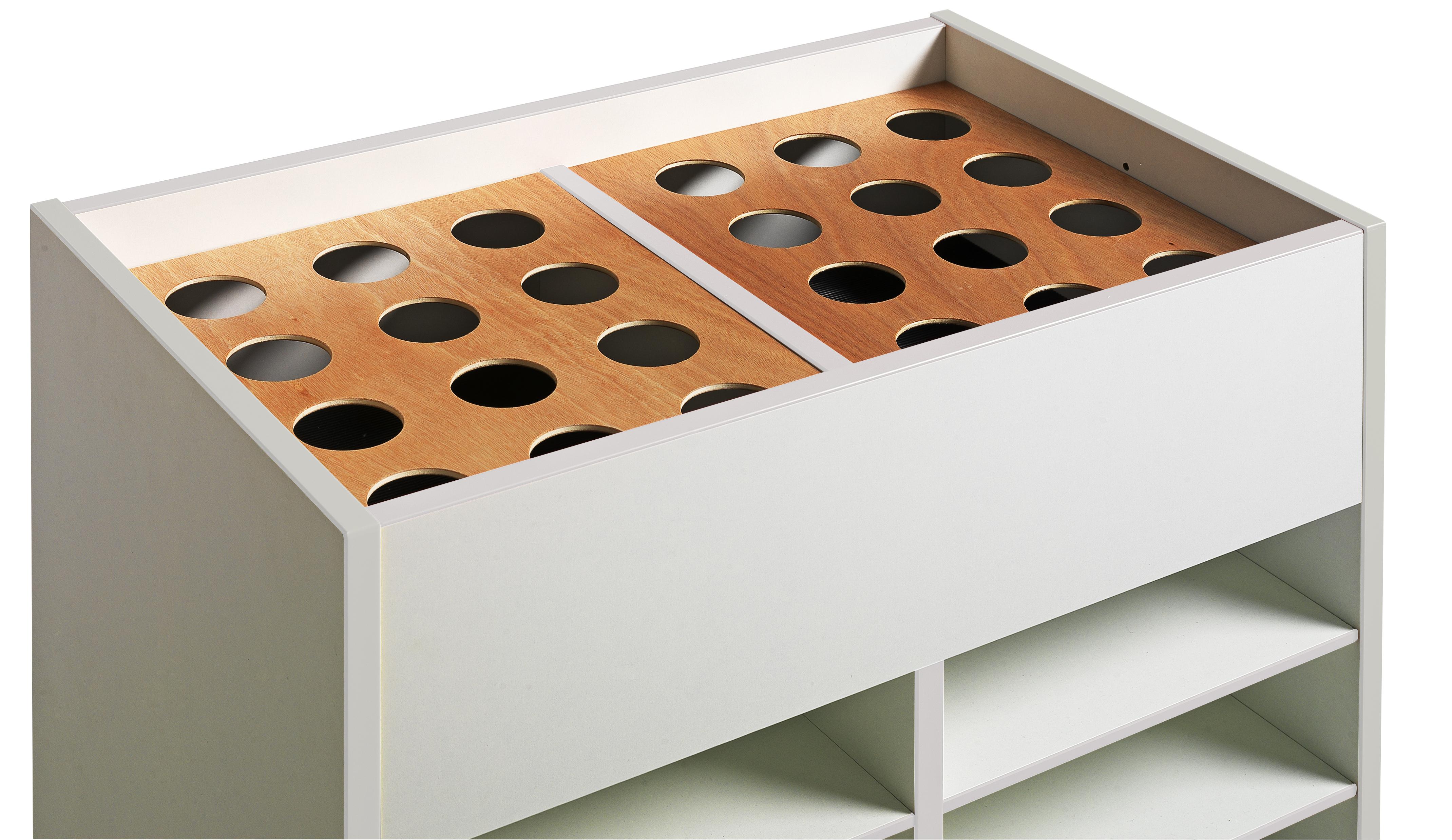 Dpc maternelle lot de 3 couvercle amovible pot de for Peinture patinee pour meuble