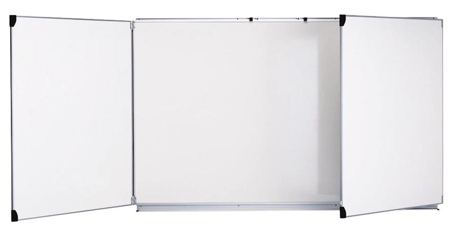 Tableau tryptique 100x200cm blanc