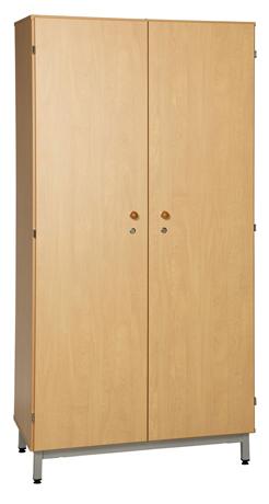 Armoire 2 portes battantes sur socle métallique