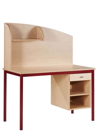 Bureau PYLOS avec caisson, tiroir et séparateur - 1200 x 600 mm