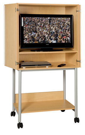 Meuble audiovisuel 2 portes en mélaminé chants ABS
