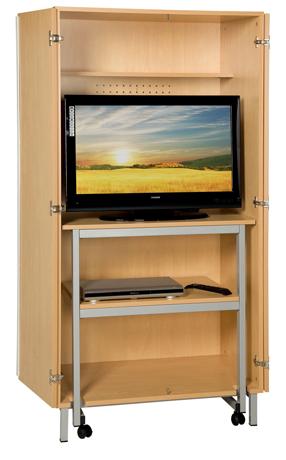 DPC - SCOLAIRE & SALLE DE COURS Meuble audiovisuel avec table roulante Photo 2