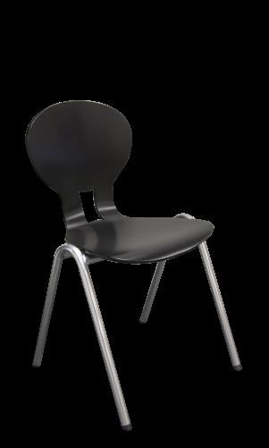Chaise 4 pieds arceau avec système d'accrochage OMAHA