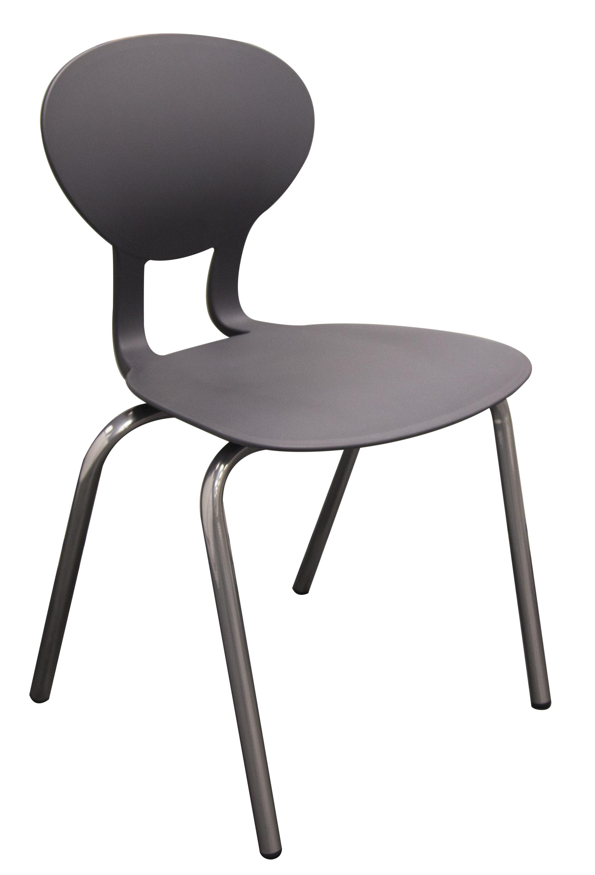 Chaise KAPPA piétement 4 pieds en acier ø 25mm